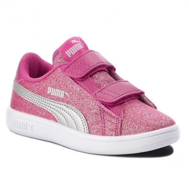 a2fd3b6e132 Sneakers PUMA - Smash V2 Glitz Glam V Ps 367378 03 Magenta Haze Puma Silver