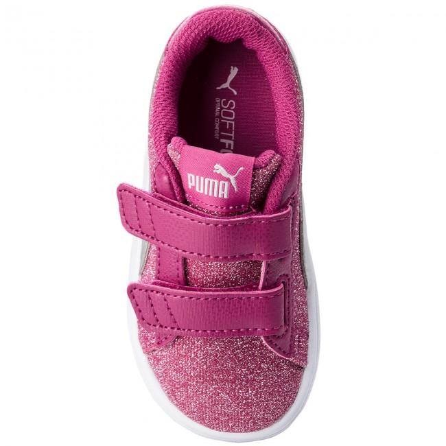 71d5730eb11 Sneakers PUMA - Smash V2 Glitz Glam V Inf 367380 03 Magenta Haze Puma  Silver - Con strappi - Scarpe basse - Bambina - Bambino - www.escarpe.it