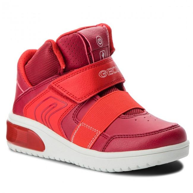 Sneakers GEOX - J Xled B. A J847QA 05411 C7000 S Red - Polacchi ... f03bfe1839e