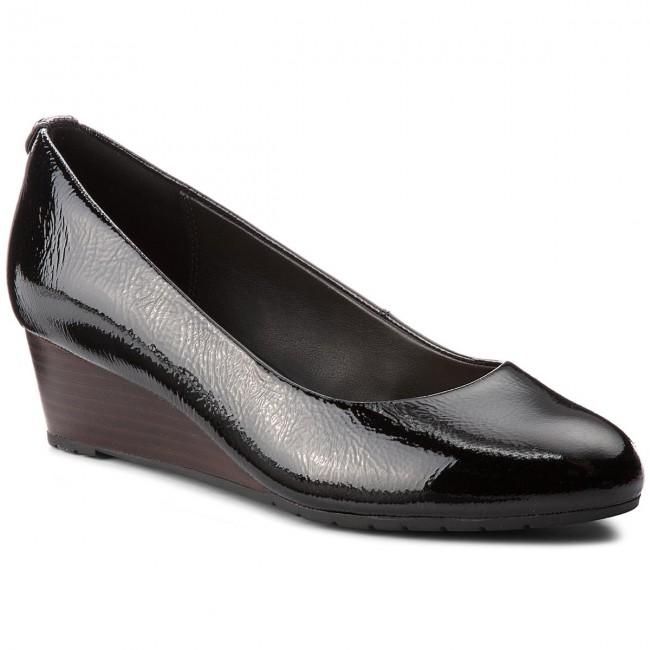 Scarpe basse CLARKS - Vendra Bloom 261328664 nero Patent Leather - Con tacco a zeppa - Scarpe basse - Donna   flagship store    Uomini/Donna Scarpa