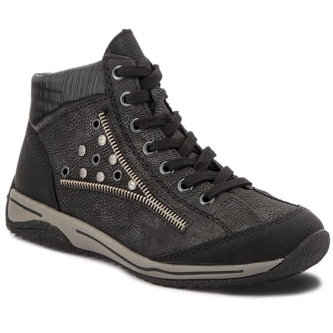 Tronchetti RIEKER - L5225-01 nero Kombi - Tronchetti - Stivali e altri - Donna | Costi medi  | Maschio/Ragazze Scarpa