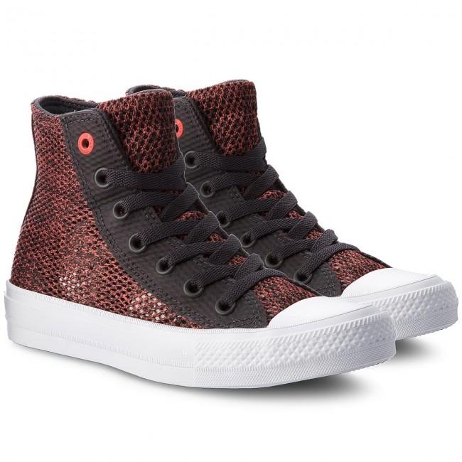 Scarpe da ginnastica CONVERSE - Ctas II Hi 155729C Almost Black/Ultra Red/White - Scarpe da ginnastica - Scarpe basse - Donna