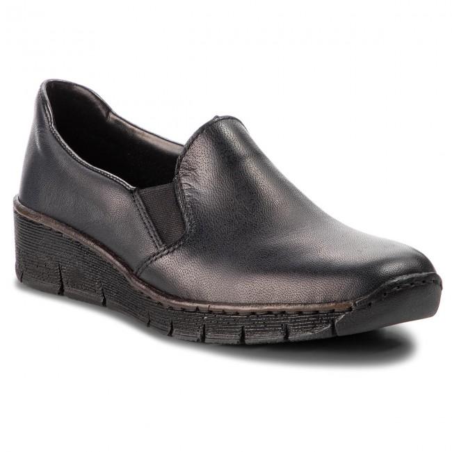 Scarpe basse RIEKER - 53766-16 blu - Basse - Scarpe basse - Donna | Forte calore e resistenza al calore  | Maschio/Ragazze Scarpa
