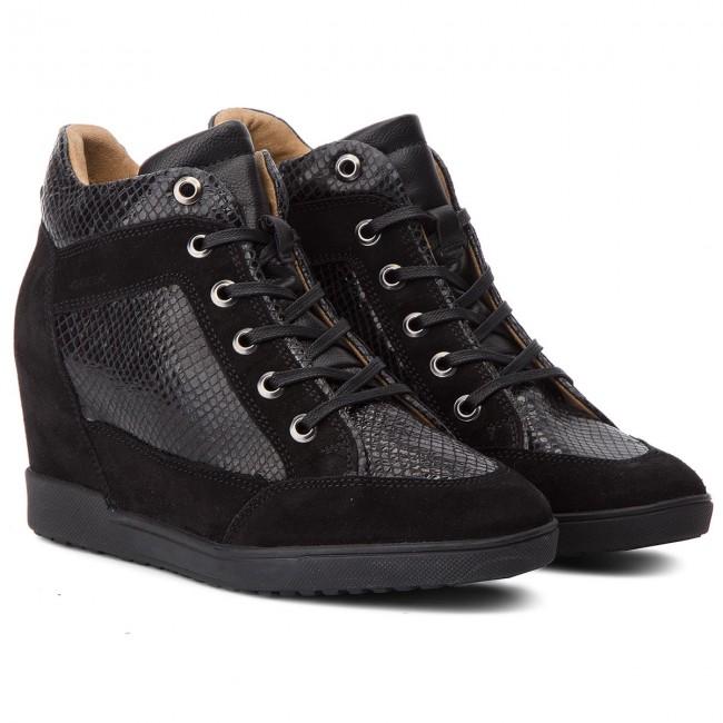 Sneakers GEOX D Carum C D84ASC 02241 C9999 Black