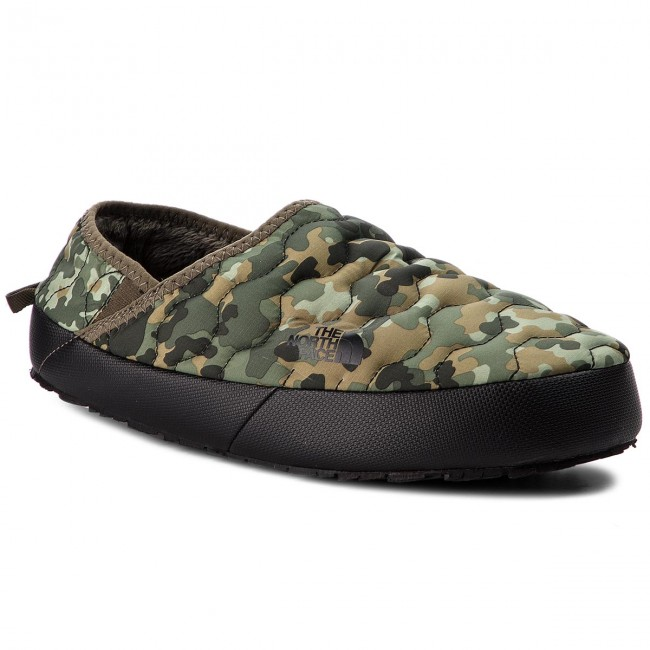 Pantofole THE NORTH FACE - Thermoball Traction Mule IV T9331E5QU Termac  Green Macrofleck Print Tumbleweed 58d0362c7697