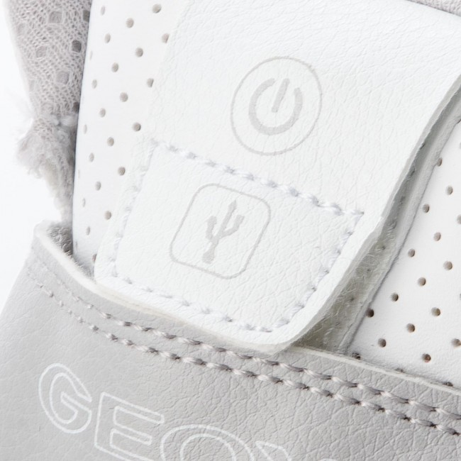 Sneakers GEOX - J Xled B. A J847QA 05411 C1000 S White - Polacchi ... 2d9f15a76aa