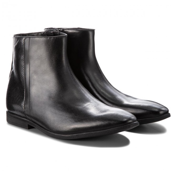 Stivali Bampton Clarks Hi Black 261354047 Leather ybf7Y6gv