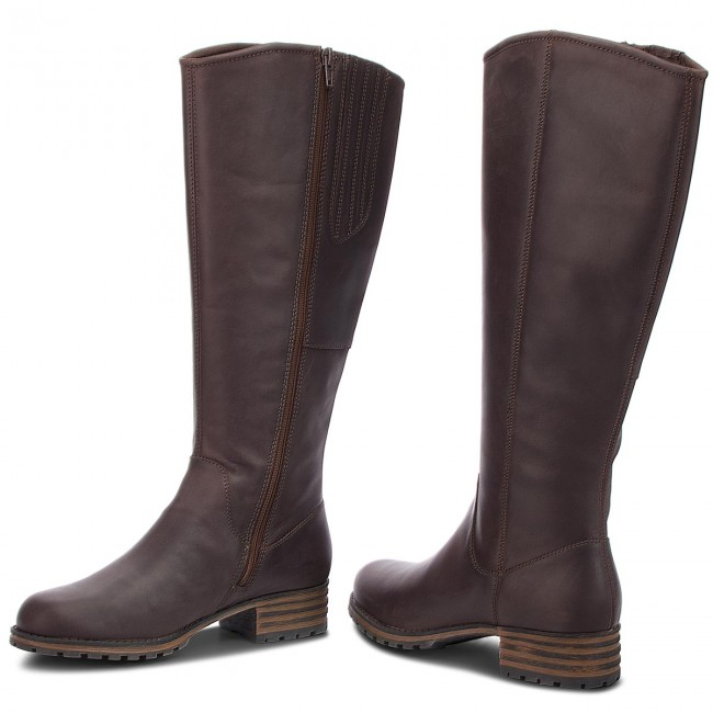 Stivali al ginocchio CLARKS - Marana Trudy 261372254 Dark Brown Leather cae7ebb712c