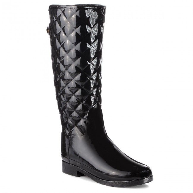Wellington HUNTER - Original Refined Quilted Quilted Quilted Gloss WFT1031RGL  nero - Stivali da pioggia - Stivali e altri - Donna | Buy Speciale  | Sig/Sig Ra Scarpa  aef4cc