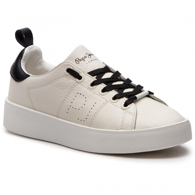 Sneakers PEPE JEANS - Brixton Low PLS30778 White 800 - Sneakers ... bfe144415d2