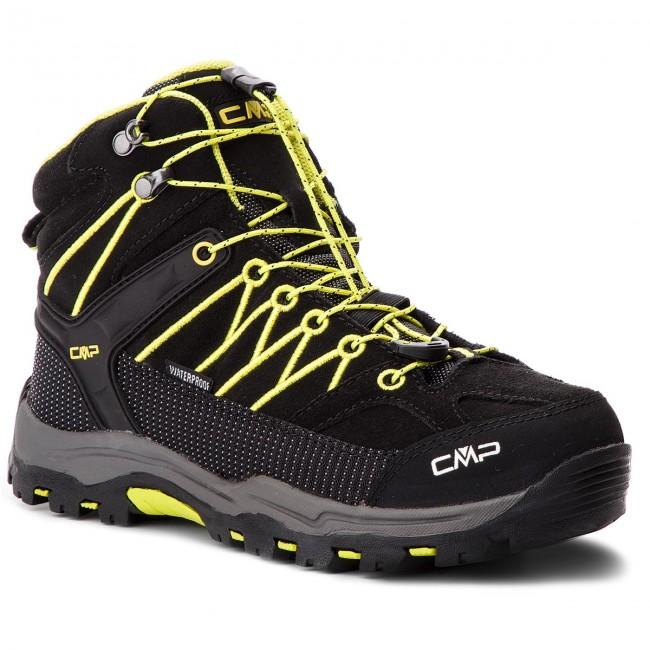 Scarpe da trekking CMP - Kids Rigel Mid Trekking Shoes Wp 3Q12944J  Nero Limeade 83BG e21ea176f14