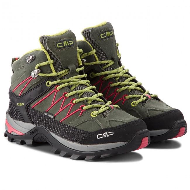 Scarpe da trekking CMP - Rigel Mid Wmn Trekking Shoes Wp 3Q12946  Kaki Corallo 65BN - Scarpe da trekking e scarponcini - Stivali e altri -  Donna ... 165aa11546f