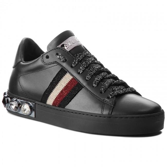 STOKTON NeroRoss D 758 Vitello NeroNastro Sneakers Sneakers dSzOXqwzWR