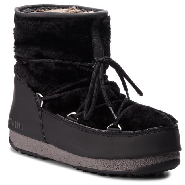 d75d634054dfb Stivali da neve MOON BOOT - Monaco Low Fur 24008500001 Black ...