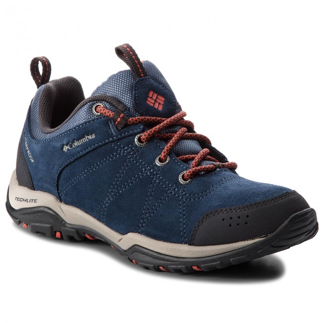 Scarpe da trekking COLUMBIA - Fire Venture Low Suede Waterproof BL1715 Zinc rosso Canyon 492 - Scarpe da trekking e scarponcini - Scarpe basse - Donna | Funzionalità eccellenti  | Maschio/Ragazze Scarpa