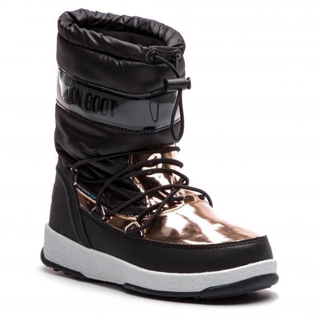 1805a9959c0bb Stivali da neve MOON BOOT - W.E. Jr Girl Soft Wp 34051700001 Black Copper