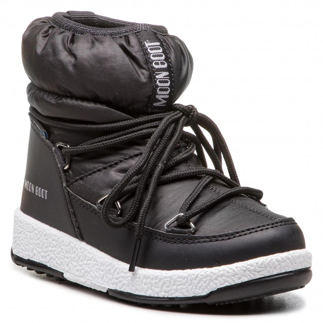 058176d36ccf0 Stivali da neve MOON BOOT - Jr Girl Low Nylon Wp 34051800001 Black ...