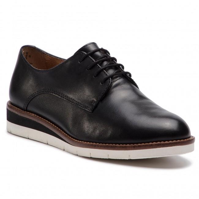 Oxfords TAMARIS - 1-23202-22 Blk Lea Plain 035 - Francesina - Scarpe basse - Donna | Più economico del prezzo  | Uomini/Donne Scarpa