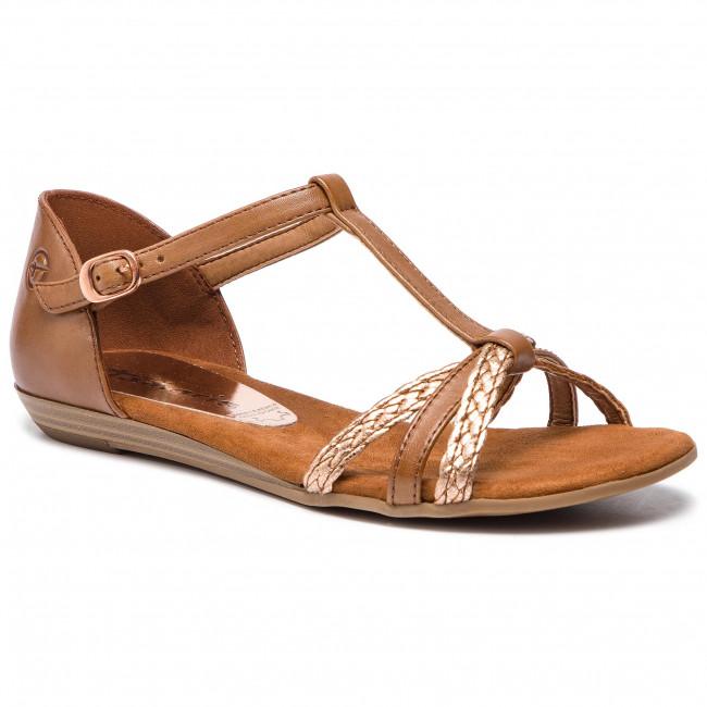 Sandali TAMARIS - 1-28137-22  Cognac Copper 340 - Sandali da giorno - Sandali - Ciabatte e sandali - Donna | Nuovi prodotti nel 2019  | Scolaro/Ragazze Scarpa