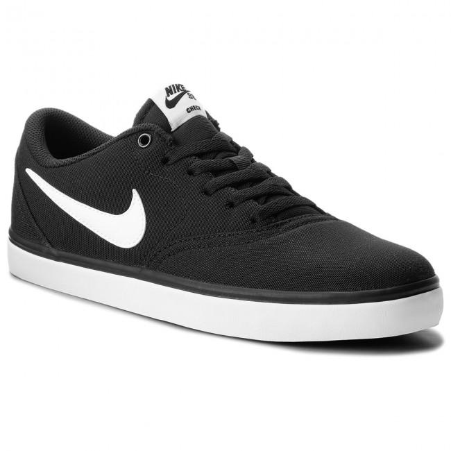 Scarpe NIKE - Sb Check Solar Cnvs 843896 001 Black White - Sneakers ... 7a48b89cb47
