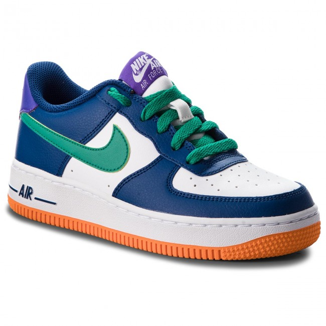 buy popular dde1f 42c09 Scarpe NIKE - Air Force 1 (GS) 596728 407 Gym Blue/Neptune Green ...
