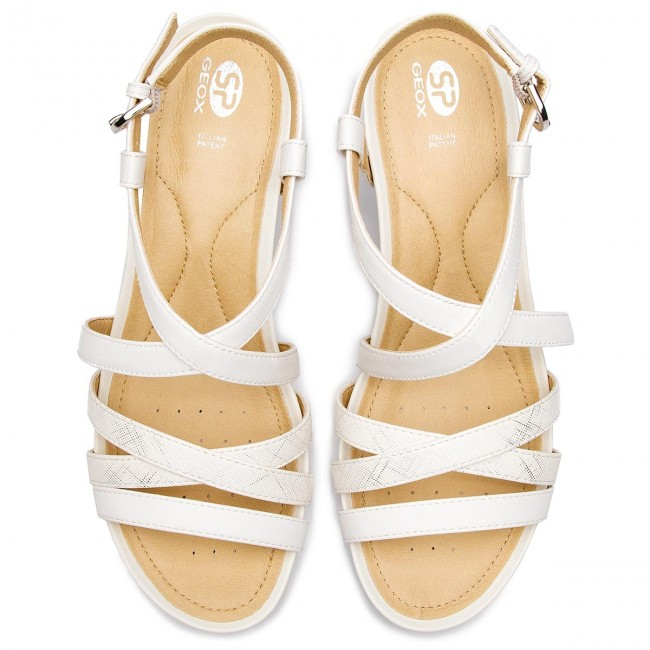 Sandali GEOX D New Rorie B D92P3B 05404 C1R1Q Optic WhiteOff White