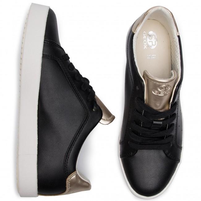 Sneakers GEOX D Blomiee B D926HB 054AJ C9258 BlackLt Gold