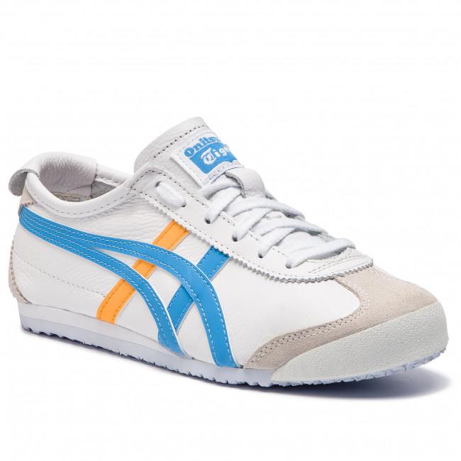 scarpe da ginnastica ASICS - ONITSUKA TIGER Mexico 66 1182A078  bianca blu blu 102 - scarpe da ginnastica - Scarpe basse - Donna | Grande Vendita Di Liquidazione  | Uomo/Donne Scarpa
