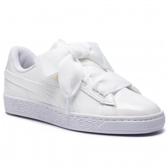 scarpe da ginnastica PUMA - Basket Heart Patent Jr 364817 02 bianca nero Prism rosa oro - scarpe da ginnastica - Scarpe basse - Donna | Credibile Prestazioni  | Maschio/Ragazze Scarpa