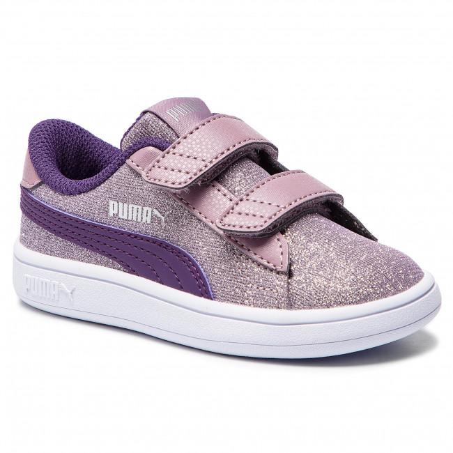 3369c80c45c Sneakers PUMA - Smash V2 Glitz Glam V Inf 367380 06 Elderberry Indigo Silver