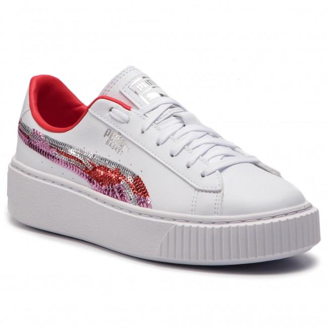 scarpe da ginnastica PUMA - Basket Platfrm Trailblazer Sqn Jr 369045 02 Puma bianca Hibiscus - scarpe da ginnastica - Scarpe basse - Donna | Nuovo Stile  | Uomo/Donna Scarpa