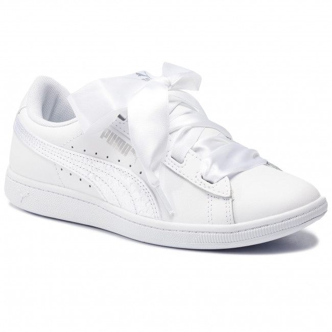 scarpe da ginnastica PUMA - Vikky Ribbon L Satin Jr 369542 02 Puma bianca Puma bianca - scarpe da ginnastica - Scarpe basse - Donna | unico  | Uomini/Donne Scarpa