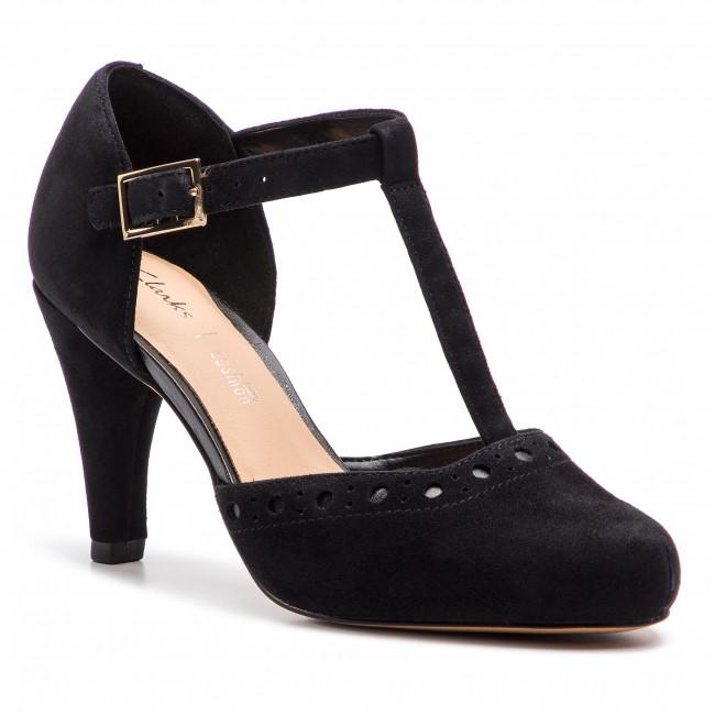 Scarpe basse CLARKS - Dalia Leah 261393044 nero Sde - Con tacco - Scarpe basse - Donna   Menu elegante e robusto    Scolaro/Signora Scarpa