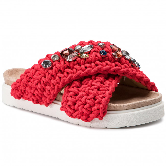 Ciabatte INUIKII - Slipper Woven 70104-6 Stones rosso - Ciabatte da giorno - Ciabatte - Ciabatte e sandali - Donna | Una Grande Varietà Di Merci  | Uomini/Donne Scarpa