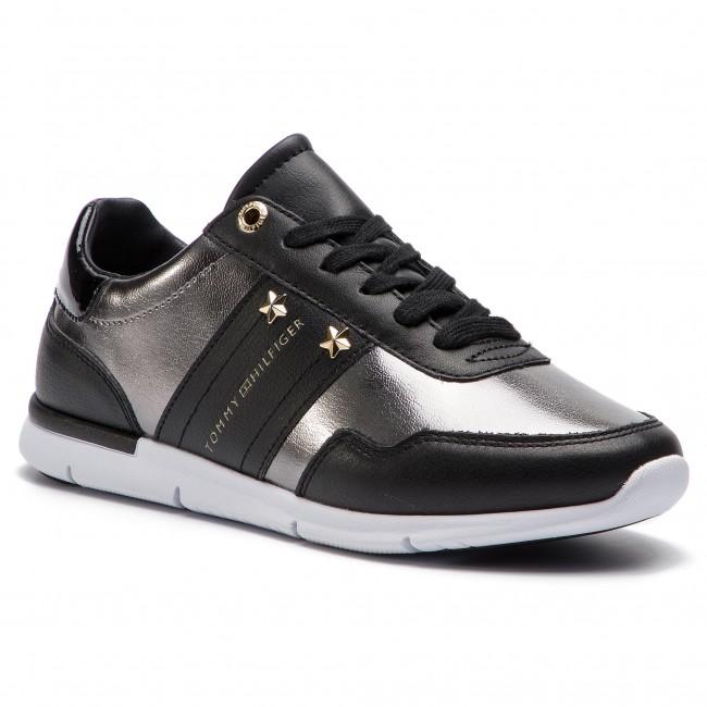 scarpe da ginnastica TOMMY HILFIGER - Tommy Essential Leather scarpe da ginnastica FW0FW03688 nero 990 - scarpe da ginnastica - Scarpe basse - Donna | Qualità  | Scolaro/Signora Scarpa