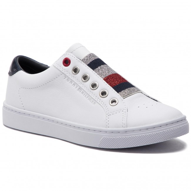 632c0463b8 Sneakers TOMMY HILFIGER - Tommy Elastic Essential Sneaker FW0FW03707 White  100