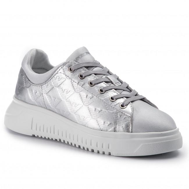 scarpe da ginnastica EMPORIO ARMANI - X3X070 XL820 A647 argento argento - scarpe da ginnastica - Scarpe basse - Donna | La prima serie di specifiche complete per i clienti  | Sig/Sig Ra Scarpa