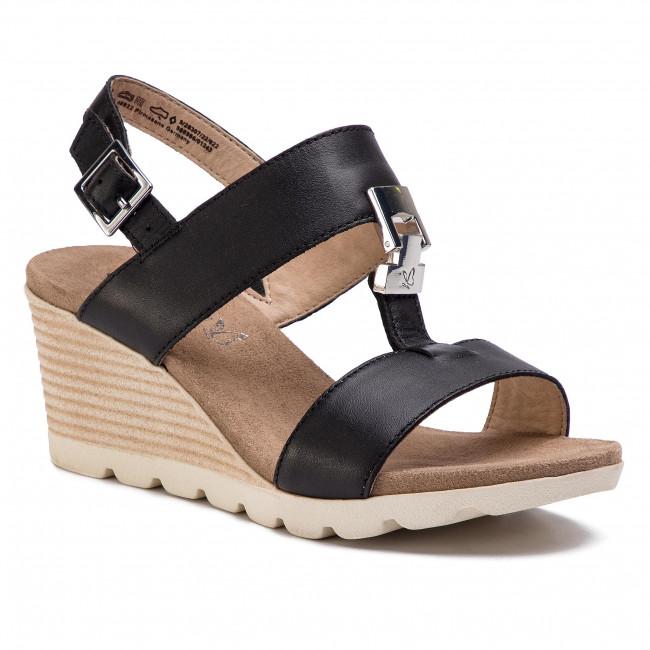Sandali CAPRICE - 9-28307-22 nero Nappa 022 - Zeppe - Ciabatte e sandali - Donna | Prezzo Ragionevole  | Maschio/Ragazze Scarpa