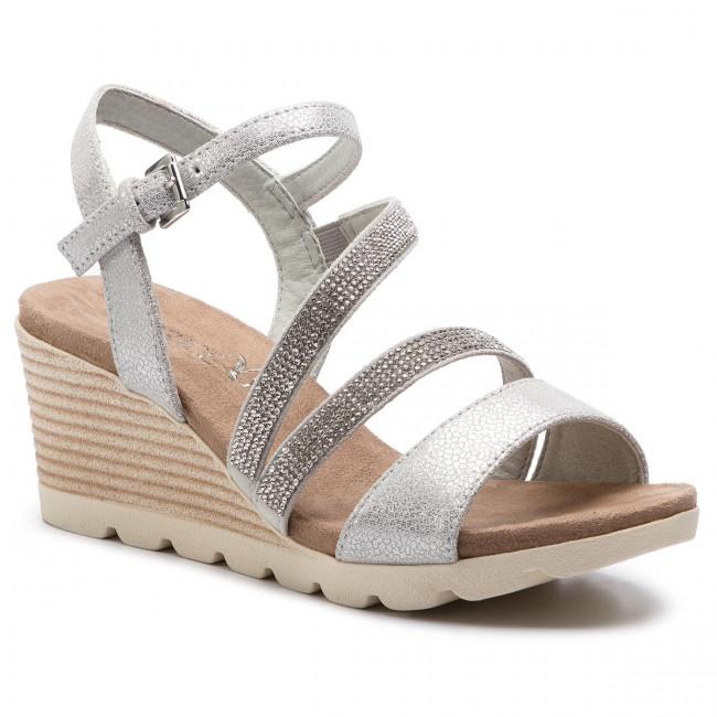 Sandali CAPRICE - 9-28309-22 argento Shin.Su - Zeppe - Ciabatte e sandali - Donna | Moda moderna ed elegante  | Uomini/Donna Scarpa