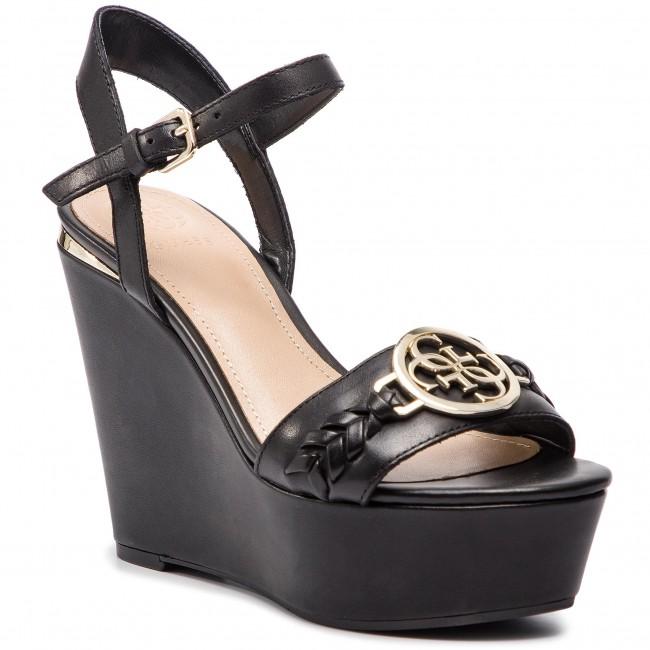 Sandali GUESS - FL6GES LEA04 nero - Zeppe - Ciabatte e sandali - Donna | Moda Attraente  | Uomini/Donne Scarpa