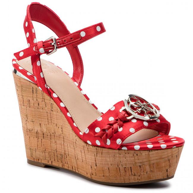 Sandali GUESS - FL6GE3 FAP04 rosso - Zeppe - Ciabatte e sandali - Donna | Sensazione Di Comfort  | Scolaro/Signora Scarpa