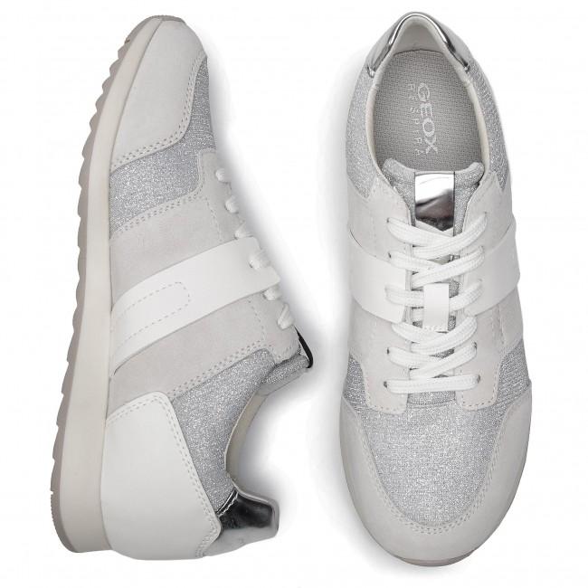 Sneakers GEOX D Deynna D D746FD 022EW C0626 Off WhiteSilver