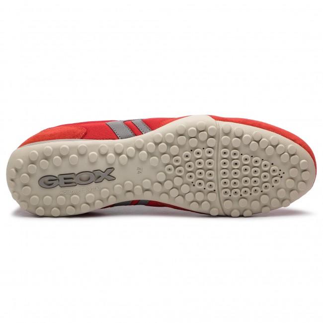 Sneakers GEOX U Snake C U7207C 01422 C0025 RedGrey