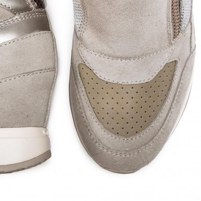 Sneakers GEOX D Nydame A D620QA 022NF C1010 Lt Grey