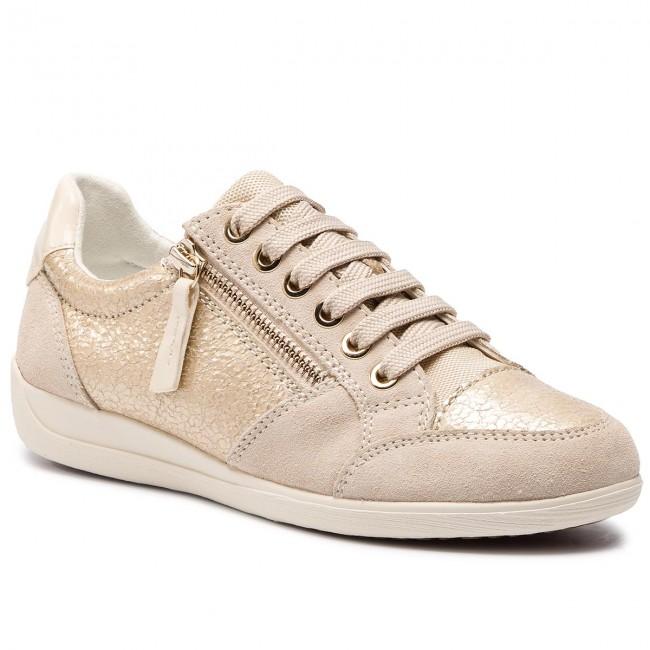 scarpe da ginnastica GEOX - D Myria B D8468B 0KY22 C2L5K Lt oro Cream - scarpe da ginnastica - Scarpe basse - Donna | Materiali Di Prima Scelta  | Uomo/Donna Scarpa