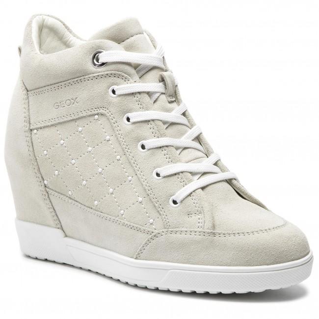 scarpe da ginnastica GEOX - D Carum C D84ASC 022AU C5002 Cream - scarpe da ginnastica - Scarpe basse - Donna | Bel Colore  | Maschio/Ragazze Scarpa
