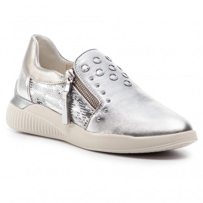 scarpe da ginnastica GEOX - D Theragon D D928SD 0KYAT C1007 argento - scarpe da ginnastica - Scarpe basse - Donna | Ottima selezione  | Scolaro/Signora Scarpa