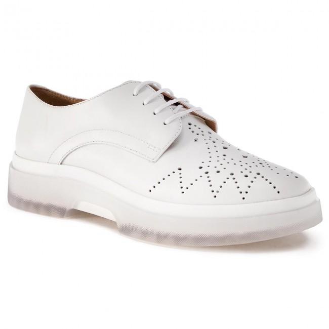 Oxfords GEOX - D Myluse C D929WC 00043 C1000 bianca - Francesina - Scarpe basse - Donna | una grande varietà  | Uomo/Donna Scarpa