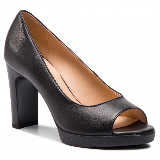 Scarpe basse GEOX - D Annya H.Sand. D D92CLD 000KF C9999  nero - Con tacco - Scarpe basse - Donna | Più economico  | Maschio/Ragazze Scarpa