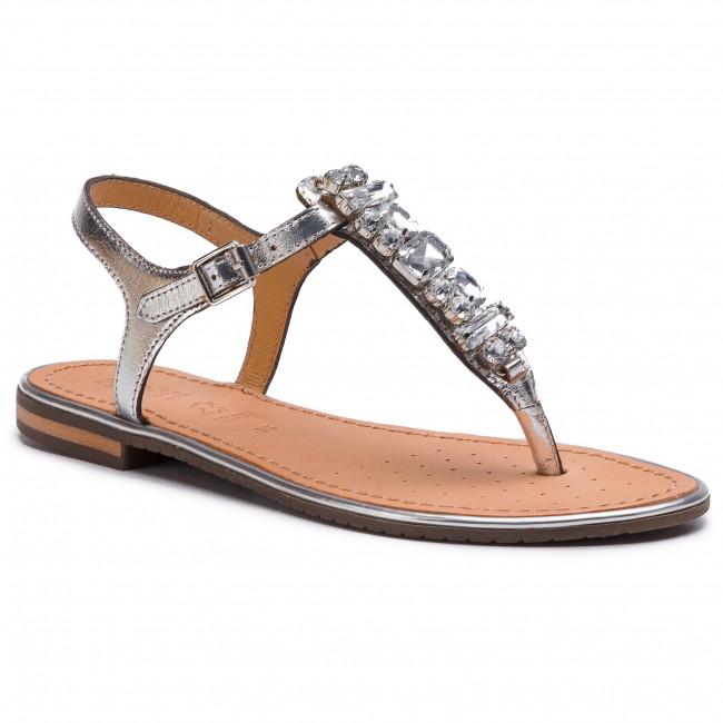 Sandali GEOX - D Sozy Pluse E D92DQE 000KY C1007 argento - Sandali da giorno - Sandali - Ciabatte e sandali - Donna | Ha una lunga reputazione  | Gentiluomo/Signora Scarpa